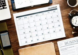 Bild mit Sitzungskalender